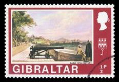 ГИБРАЛТАР - Печать почтового сбора стоковые фото