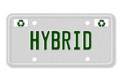 Гибридный номерной знак автомобиля Стоковое Изображение RF