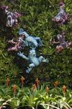 Гибридное украшение сада ананаса стоковая фотография