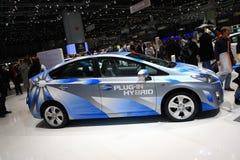 гибридное prius Тойота штепсельной вилки Стоковые Изображения RF