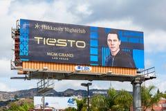 Гигантская афиша повышая sto в Лос-Анджелесе, США DJ Tià « стоковое фото