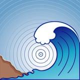 гигантская волна цунами Стоковое Изображение
