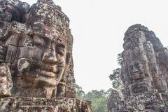 Гигантская каменная сторона на виске Bt, Angkor Wat, Камбодже Стоковое Фото