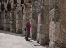 Гигантская конструкция огромного амфитеатра Стоковая Фотография RF