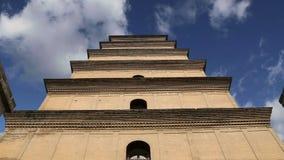 Гигантская одичалая пагода гусыни или большая одичалая пагода гусыни, буддийская пагода расположенная в южном Xian Sian, XI `, Ки акции видеоматериалы