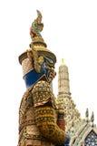Гигантская скульптура в виске Wat Phra Kaew Стоковая Фотография RF