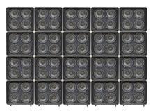 Гигантская стена басовых дикторов Стоковые Изображения