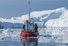 Гигантские айсберги залива Disko Стоковая Фотография