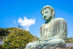 Гигантские Будда или Daibutsu в Камакуре, Японии Стоковая Фотография RF