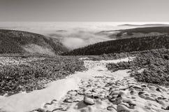 Гигантские горы в зиме 2, чехия Стоковое Изображение