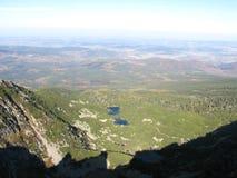 Гигантские горы в Польше и чехе стоковое фото rf