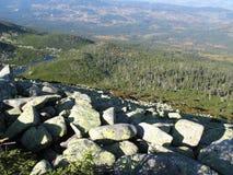 Гигантские горы в Польше и чехе стоковые изображения