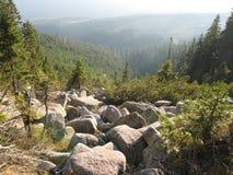 Гигантские горы в Польше и чехе Стоковая Фотография