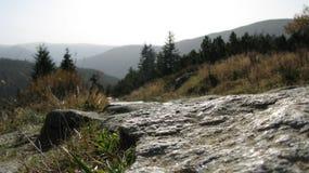 Гигантские горы в Польше и чехе стоковые изображения rf