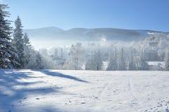 Гигантские горы/Karkonosze, зима Karpacz Стоковое Изображение