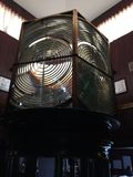 Гигантские зеркала используемые в маяке, на дисплее на музее маяка Kunoor Стоковая Фотография RF
