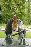 Гигантские львы & статуя Питер Пэн Стоковое Фото