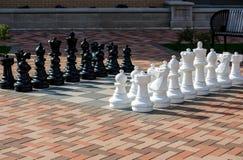 Гигантский внешний комплект шахмат Стоковое Фото