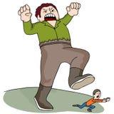 Гигантский гоня человек Стоковые Фотографии RF