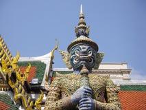 Гигантский демон, Wat Phra Keaw, Бангкок, Таиланд Стоковые Фото