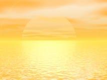 гигантский желтый цвет солнца иллюстрация штока