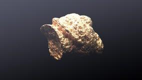 Гигантский золотой самородок Стоковое фото RF
