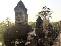 гигантский камень стародедовская статуя Камбоджа Стоковое Изображение RF