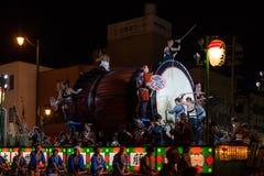 Гигантский парад барабанчика в городе Aomori, Японии 6-ого августа 2015 Стоковая Фотография RF