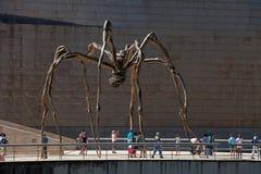 Гигантский паук, Guggenheim, Бильбао Стоковые Изображения