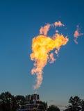 Гигантский факел пропана стоковые фото