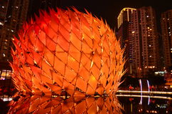 Гигантский фонарик на парке Виктория Стоковые Изображения RF
