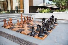 Гигантский шахмат на гавани милочки Стоковые Изображения RF