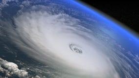 Гигантский шторм увиденный от видео космоса HD иллюстрация вектора