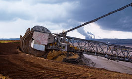 Гигантское колесо землечерпалки Стоковое Фото