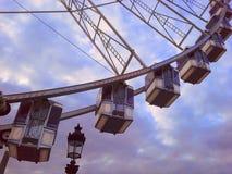 Гигантское колесо Ferris большое Roue Место de Ла конкорд в Париже, des Tuileries Jardin Стоковое Изображение