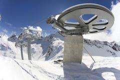 Гигантское колесо от вершины подъема лыжи Стоковое Изображение RF