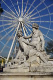 Гигантское колесо Ferris (большое Roue) в Париже Стоковая Фотография