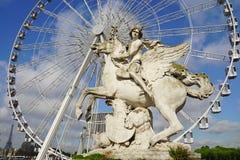 Гигантское колесо Ferris (большое Roue) в Париже Стоковое фото RF