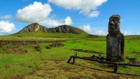 Гигант Moai острова пасхи Стоковые Изображения RF
