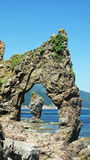 Гигант Velikan накидки, остров Сахалина, Россия стоковое изображение rf