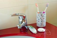 Гигиена полости рта дома стоковое изображение