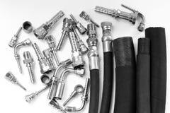 Гидравлический трубопровод и ferrule для индустрии стоковая фотография