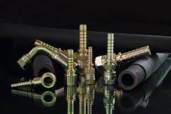 Гидравлический трубопровод и ferrule для индустрии стоковые изображения rf