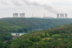 Гидрактор и атомные электростанции Стоковые Фотографии RF