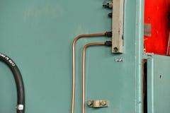 Гидротехник смазывают станцию на механическом инструменте на промышленном оборудовании Система смазки с маслом под давлением стоковое изображение rf