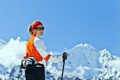 Гималаи trekking женщина Стоковые Фотографии RF