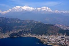 Гималайский город Pokhara, Непала Стоковое Изображение RF