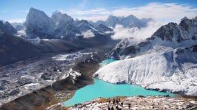 Гималаи осени ландшафта гор сценарные Стоковые Изображения RF