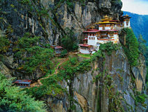 Гималаи, Тибет, Бутан, Paro Taktsan, Taktsang Palphug Monaster Стоковое Изображение
