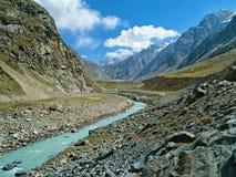 Гималаи Тибет himachal долина spiti pradesh Индии Дорога к Kaza Стоковые Фотографии RF